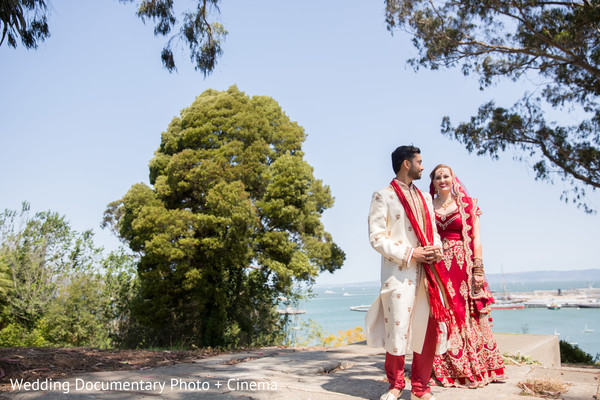 First look portraits in San Francisco, CA Indian Fusion Wedding by Wedding Documentary Photo + Cinema