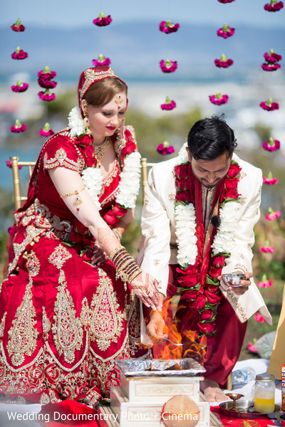 Ceremony in San Francisco, CA Indian Fusion Wedding by Wedding Documentary Photo + Cinema