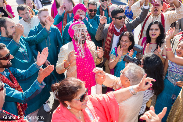 Baraat in Visalia, CA Sikh Wedding by Global Photography