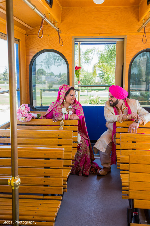 Indian wedding portraits in Visalia, CA Sikh Wedding by Global Photography
