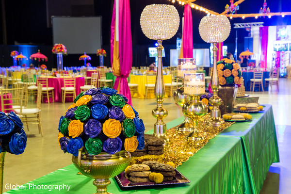 Dessert table in Visalia, CA Sikh Wedding by Global Photography