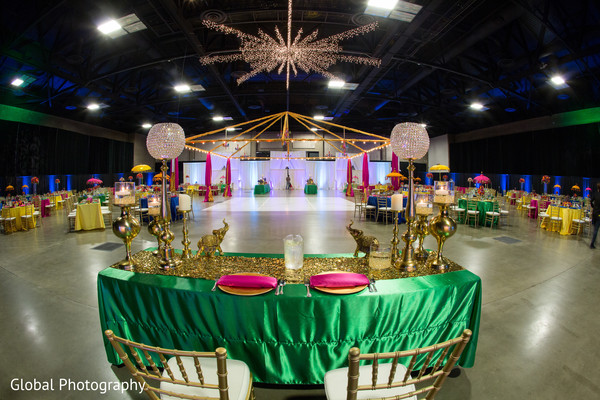 Reception decor in Visalia, CA Sikh Wedding by Global Photography