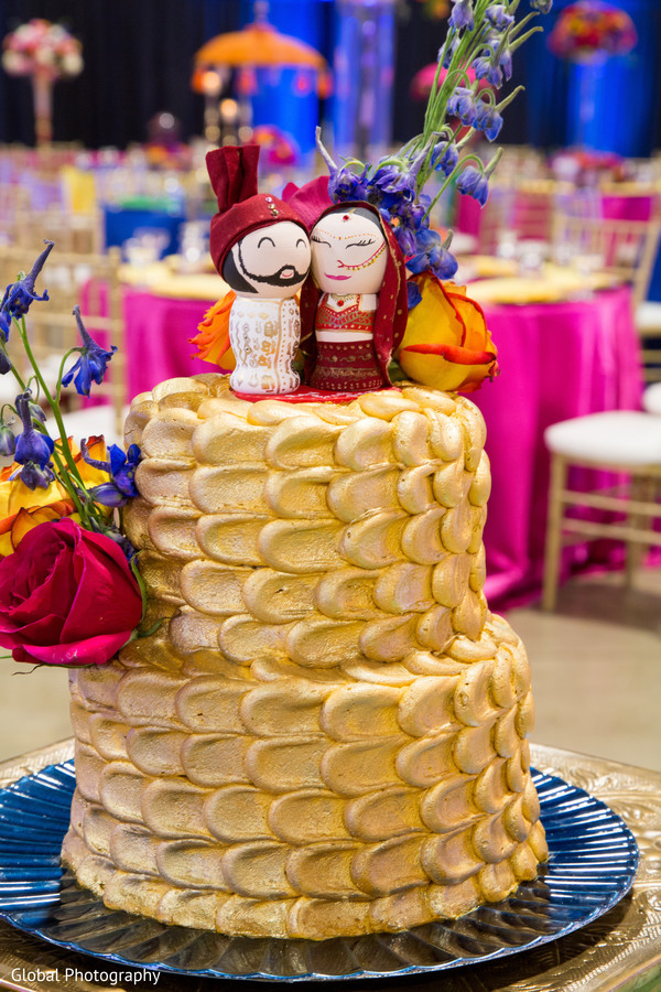 Indian wedding cake in Visalia, CA Sikh Wedding by Global Photography