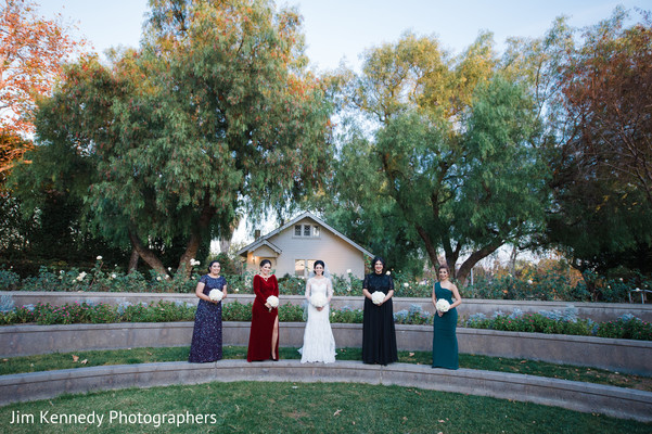 Bridal party in Yorba Linda, CA South Asian Wedding by Jim Kennedy Photographers