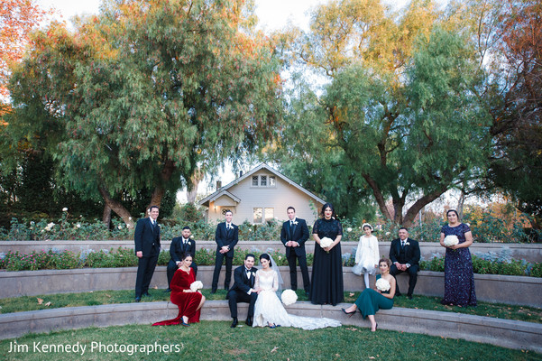 Wedding party in Yorba Linda, CA South Asian Wedding by Jim Kennedy Photographers