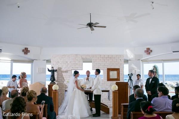 Ceremony in Riviera Maya, Mexico Destination Fusion Indian Wedding by Gallardo Films