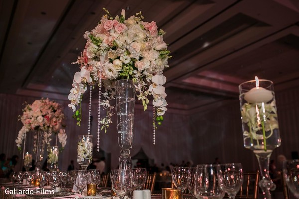 Reception decor in Riviera Maya, Mexico Destination Fusion Indian Wedding by Gallardo Films