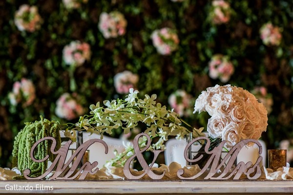 Reception decor in Riviera Maya, Mexico Destination Fusion Indian Wedding by Gallardo Films