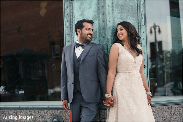 Reception portraits in Detroit, MI Indian Wedding by Arising Images