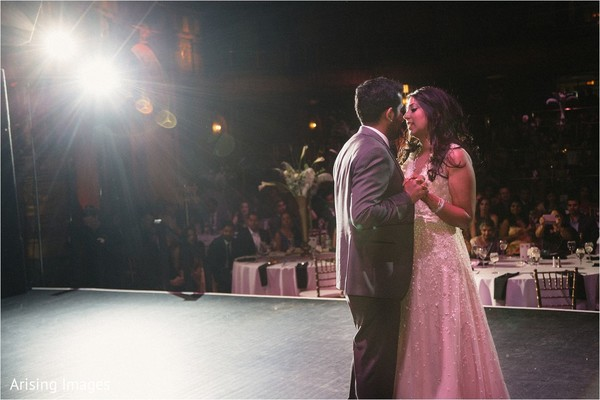 First dance in Detroit, MI Indian Wedding by Arising Images