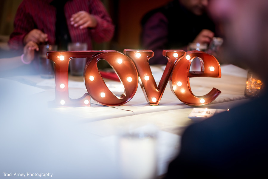 Reception Decor in Durham, NC Sikh Wedding by Traci Arney Photography
