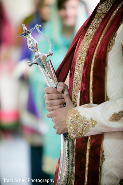 Ceremony in Durham, NC Sikh Wedding by Traci Arney Photography