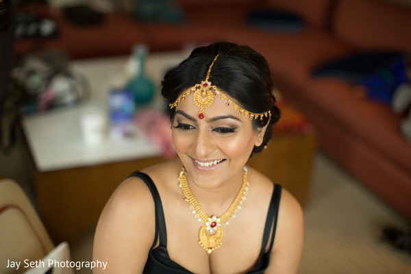 Bridal Jewelry in Carle Place, NY Indian Wedding by Jay Seth Photography