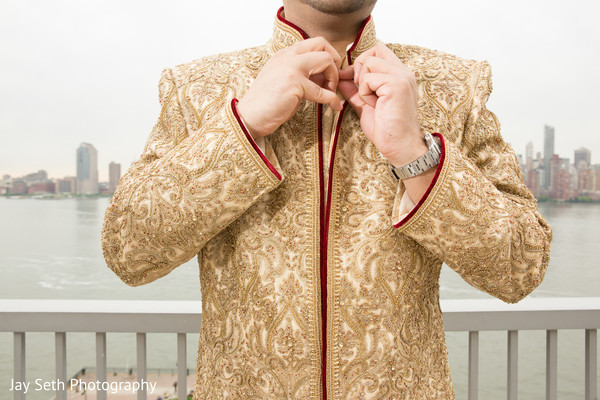 Groom Fashion in Carle Place, NY Indian Wedding by Jay Seth Photography