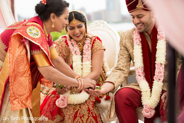 Ceremony in Carle Place, NY Indian Wedding by Jay Seth Photography