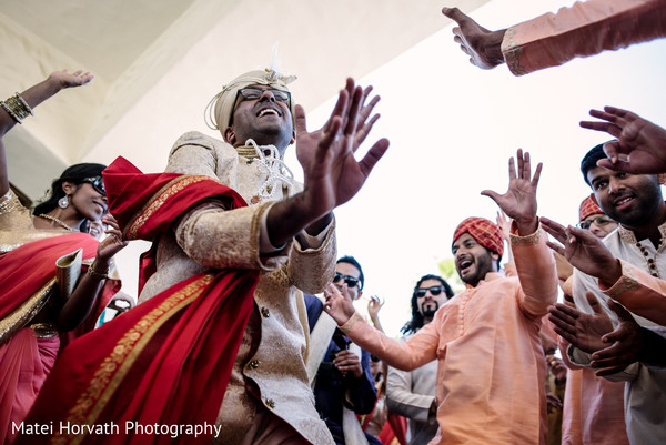 Baraat in Huntington Beach, CA Indian Wedding by Matei Horvath Photography