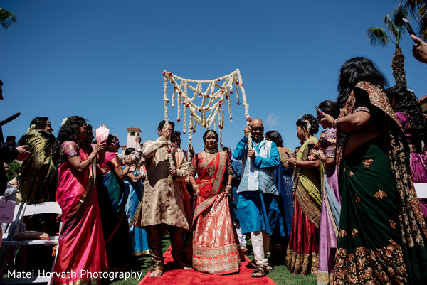 Ceremony in Huntington Beach, CA Indian Wedding by Matei Horvath Photography