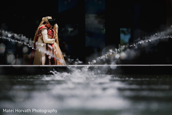 First look in Huntington Beach, CA Indian Wedding by Matei Horvath Photography
