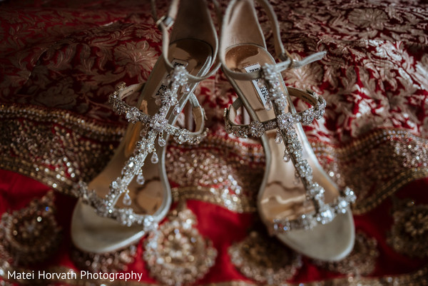 Shoes in Huntington Beach, CA Indian Wedding by Matei Horvath Photography
