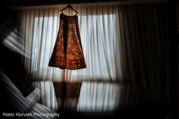 Lengha in Huntington Beach, CA Indian Wedding by Matei Horvath Photography