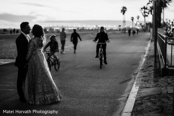 Reception portraits in Huntington Beach, CA Indian Wedding by Matei Horvath Photography