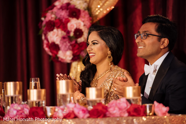 Reception in Huntington Beach, CA Indian Wedding by Matei Horvath Photography