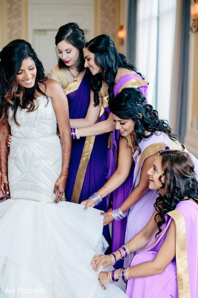 Getting Ready in Orlando, FL Indian Fusion Wedding by Ais Portraits