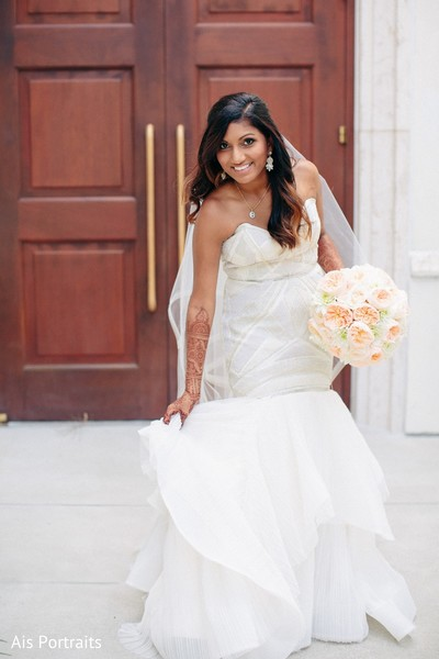 Bridal Fashion in Orlando, FL Indian Fusion Wedding by Ais Portraits