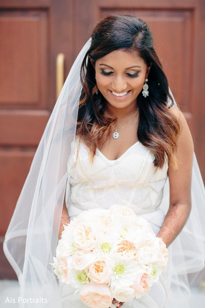 Bridal Bouquet in Orlando, FL Indian Fusion Wedding by Ais Portraits