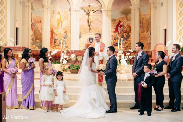 Ceremony in Orlando, FL Indian Fusion Wedding by Ais Portraits