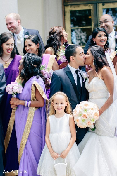 Wedding Party in Orlando, FL Indian Fusion Wedding by Ais Portraits