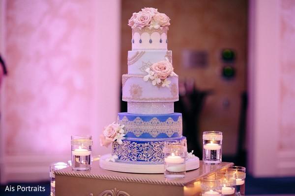 Wedding Cake in Orlando, FL Indian Fusion Wedding by Ais Portraits