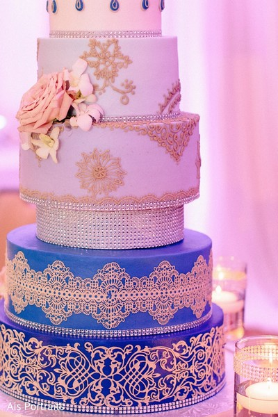 Wedding Cake in Orlando, FL Indian Fusion Wedding by Ais Portraits