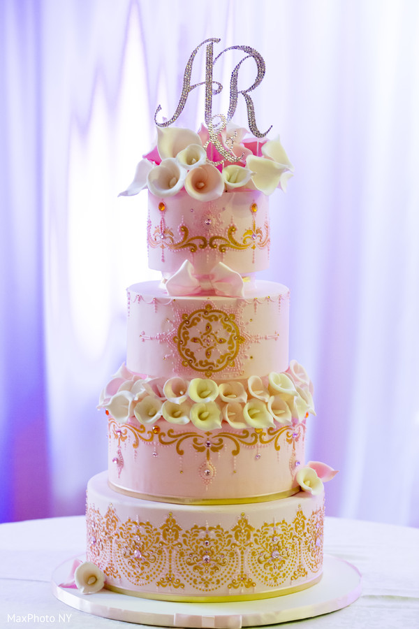 Cake in New York, NY Indian Wedding by MaxPhoto NY