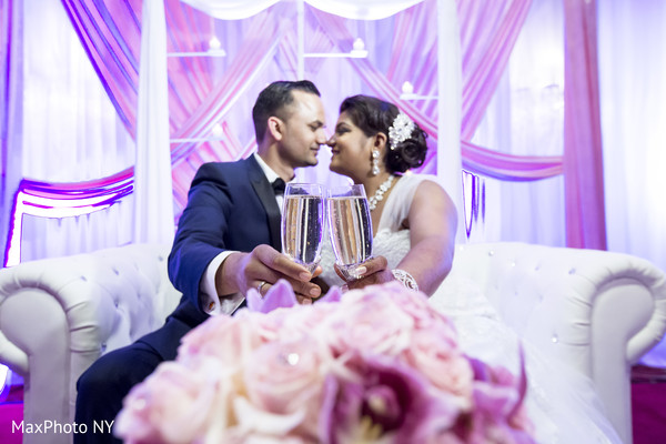 Reception portraits in New York, NY Indian Wedding by MaxPhoto NY