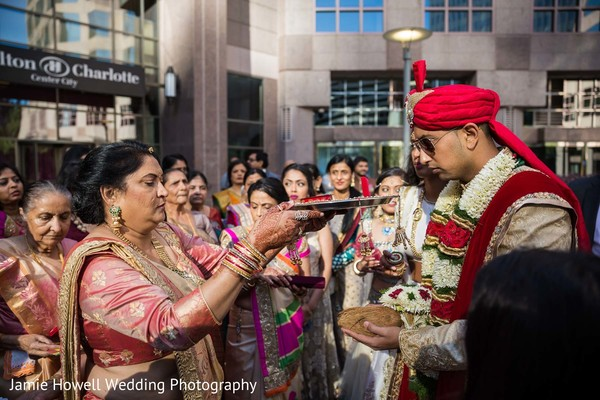 Baraat in Charlotte, NC Indian Wedding by Jamie Howell Wedding Photography