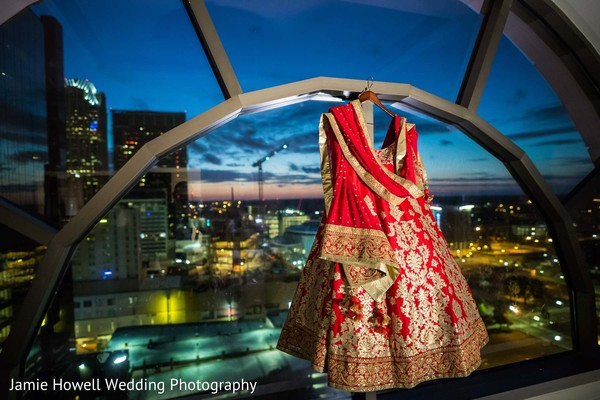 Lengha in Charlotte, NC Indian Wedding by Jamie Howell Wedding Photography