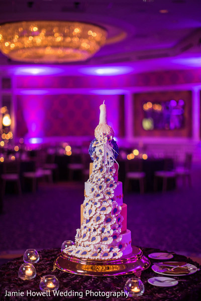 Wedding cake in Charlotte, NC Indian Wedding by Jamie Howell Wedding Photography