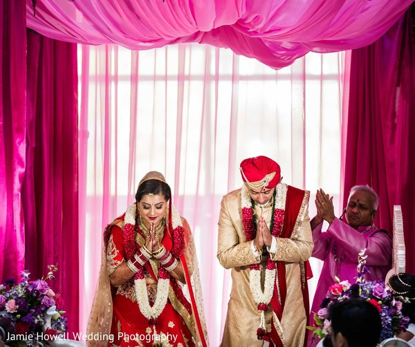Ceremony in Charlotte, NC Indian Wedding by Jamie Howell Wedding Photography