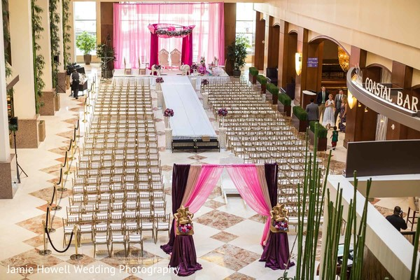 Ceremony decor in Charlotte, NC Indian Wedding by Jamie Howell Wedding Photography