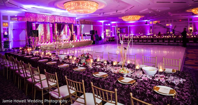 Reception decor in Charlotte, NC Indian Wedding by Jamie Howell Wedding Photography