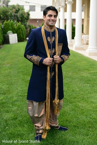 Groom Fashion in Woodbury, NY Indian Wedding by House of Talent Studio