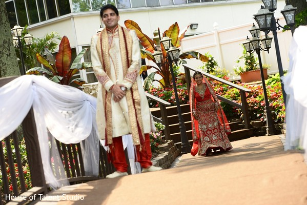 First Look in Woodbury, NY Indian Wedding by House of Talent Studio