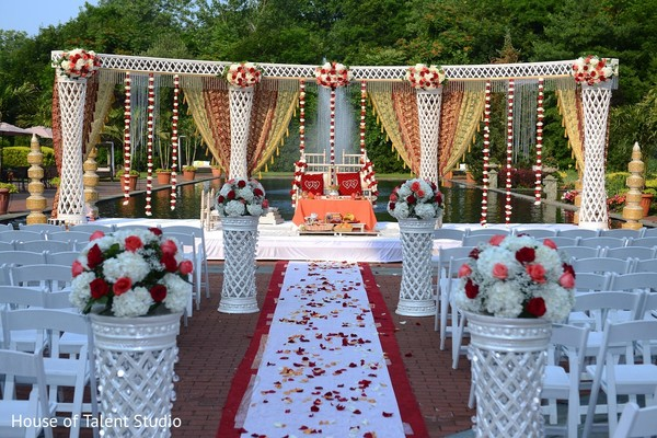 Ceremony Decor in Woodbury, NY Indian Wedding by House of Talent Studio