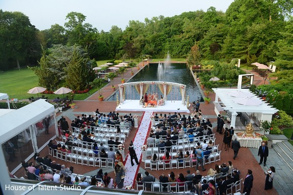 Ceremony Venue in Woodbury, NY Indian Wedding by House of Talent Studio