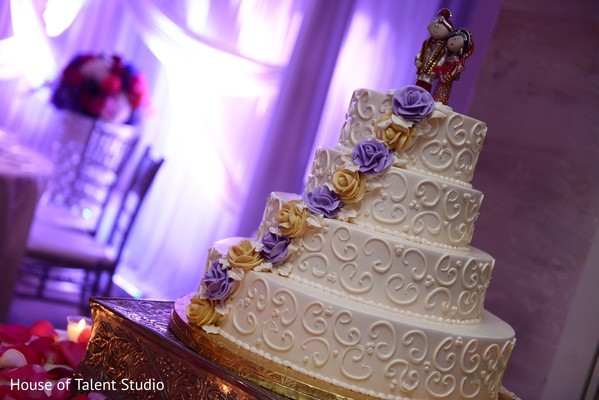 Wedding Cake in Woodbury, NY Indian Wedding by House of Talent Studio