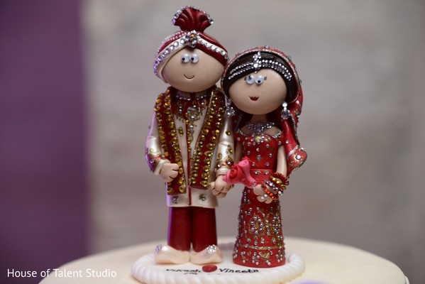 Cake Topper in Woodbury, NY Indian Wedding by House of Talent Studio
