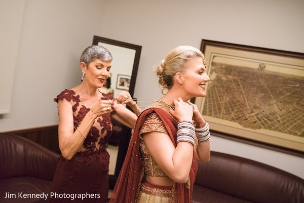 Getting Ready in Yorba Linda, CA Indian Fusion Wedding by Jim Kennedy Photographers