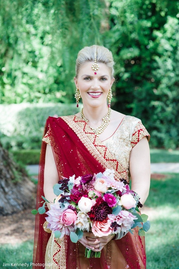 Bridal Portrait in Yorba Linda, CA Indian Fusion Wedding by Jim Kennedy Photographers