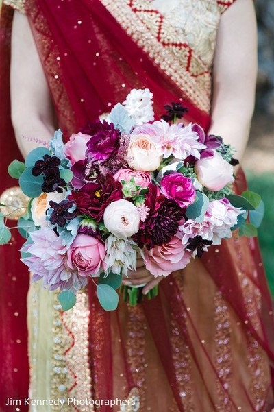 Bridal Bouquet in Yorba Linda, CA Indian Fusion Wedding by Jim Kennedy Photographers